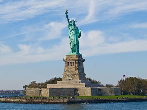 the statue of liberty crown. A gift from France, the Statue