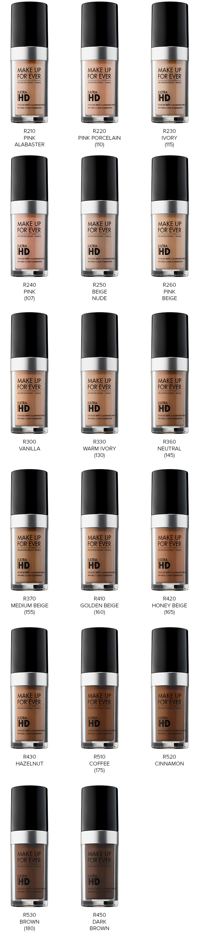 Make up for ever ultra hd foundation stick in y325