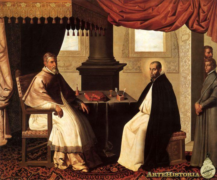 Resultado de imagen de Zurbaran, San Bruno con Urbano II