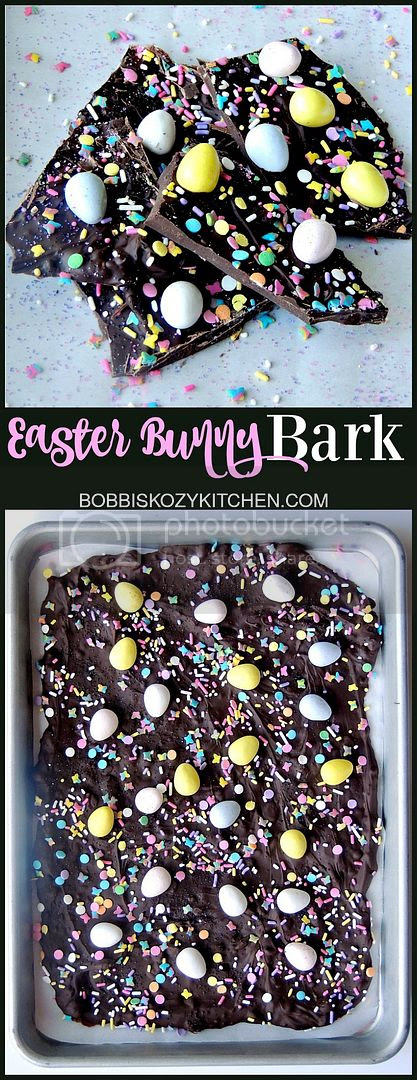 The kids will love this Easter Bunny Bark. How can you go wrong with chocolate and sprinkles? From www.bobbiskozykitchen.com