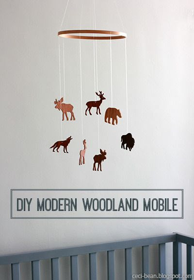 DIY Modern Woodland Mobile