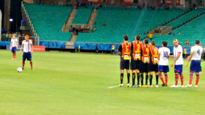 Bahia vence o Globo por 1 a 0, com gol de Rômulo, na Fonte Nova (Foto: Divulgação/E.C. Bahia)