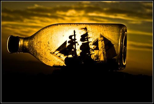 atrapado en un mar de atardeceres
