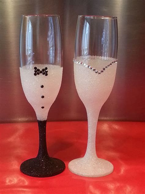 1000  images about Bride and Groom Glasses on Pinterest