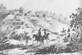 Эпизод из маневров в Красном Селе. 1834—35 г.