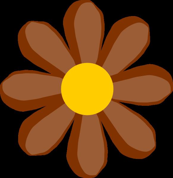 flower clip art. Brown Flower clip art