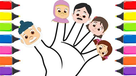 niloya cizgi film boyama oyunu niloya parmak ailesi tuerkce