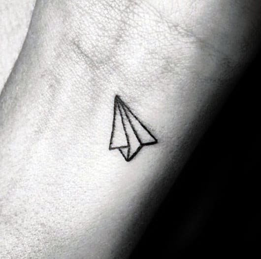 60 Paper Airplane Tattoo Designs For Men - Cool Ink Ideas