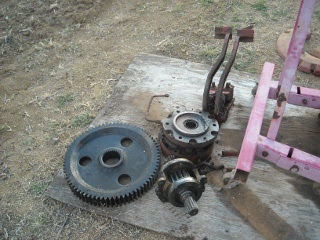 Farmall 806 Gears, Brakes Removed for Axle Repair