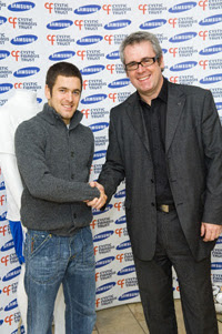 Joe Cole, patron of the Cystic Fibrosis Trust and Chelsea Football Club player