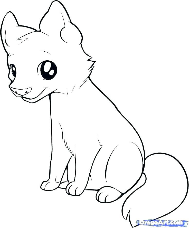 Wolf Pup Coloring Pages at GetColorings.com | Free ...