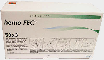 Hemo Fec Testbriefe, 50 x 3 Stück, 3-Proben-Test ...