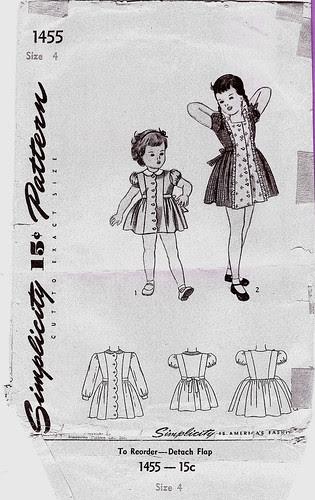 Child's vintage pattern envelope