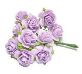 Różowe pudrowe róże otwarte zestaw 25/50szt
