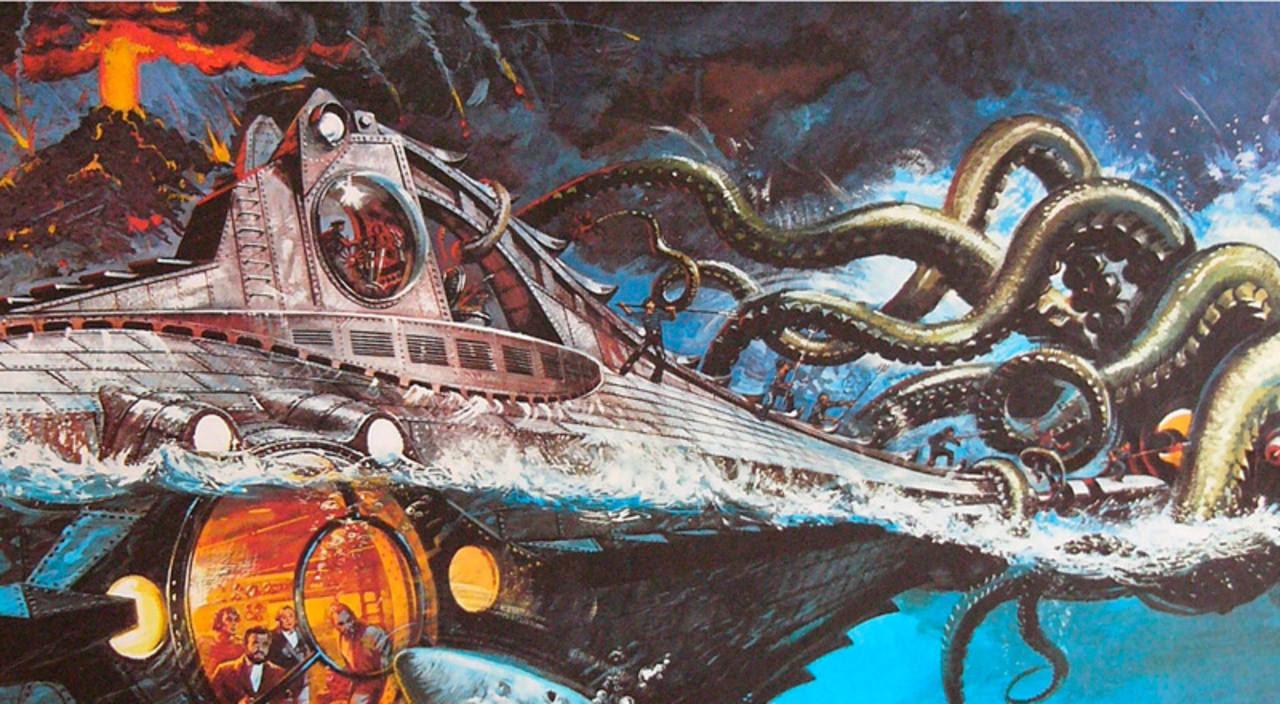 Cartel de '20.000 leguas de viaje submarino'