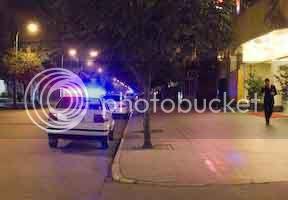 Police cars in the Tibetian Quarter