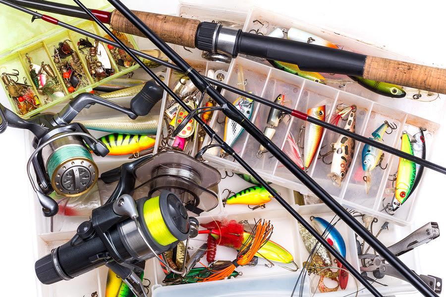 bigstock Fishing Tackles Rod Reel L 100702283