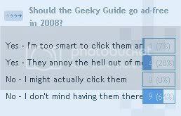 Geeky Guide: Ad Poll