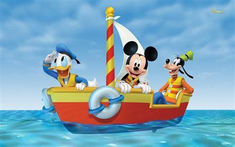 Mickey Maus Adventure At Sea Desktop Wallpaper Hd