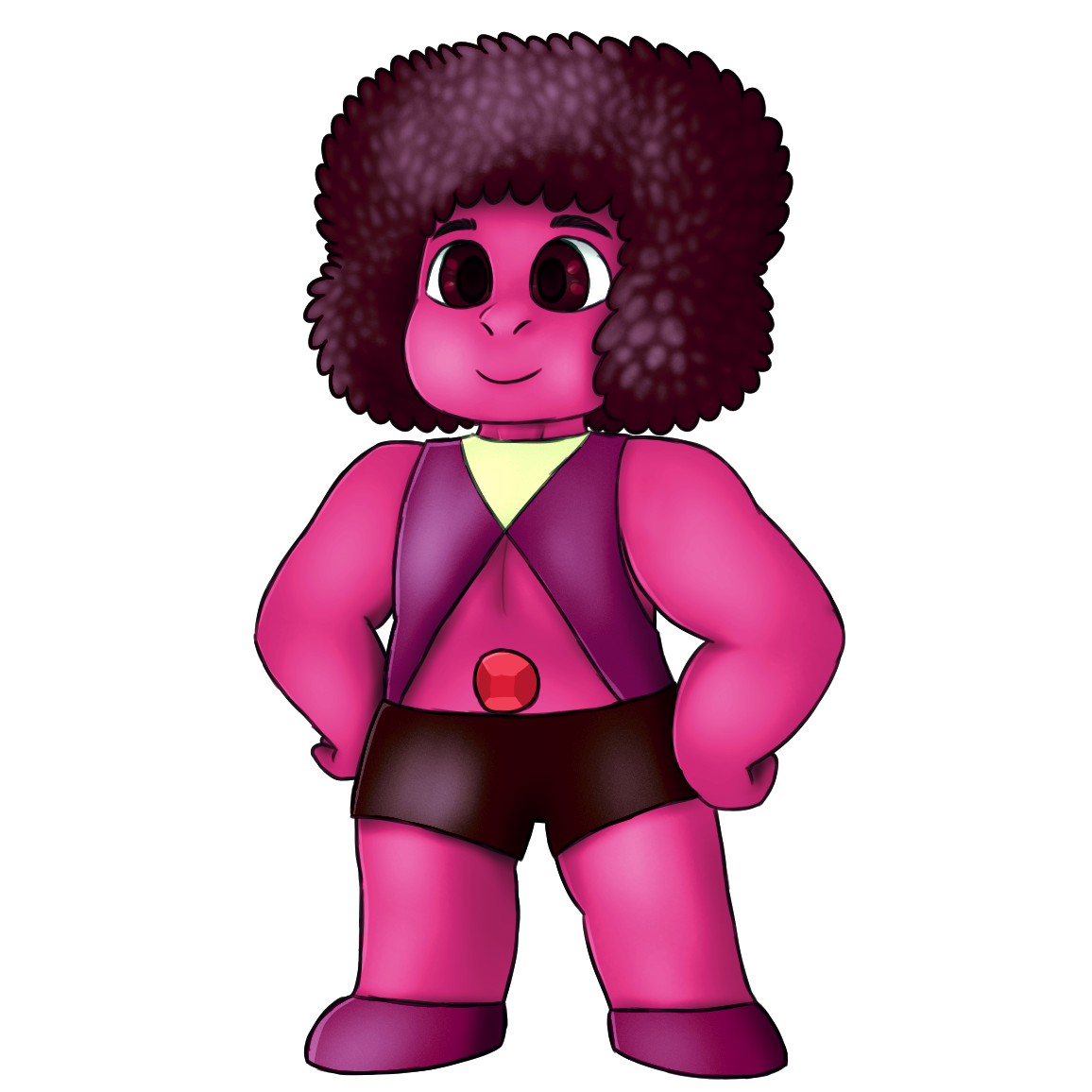 SEE THIS STYLE? SEE THIS STYLE RIGHT HERE? For $15 I will draw your Gemsona like that.Please, I need money. Send me a message (NOT an ask) for details.