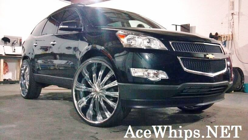 Ace 1 Bc Customs Black 2012 Chevy Traverse On 28 Quot Bentchis