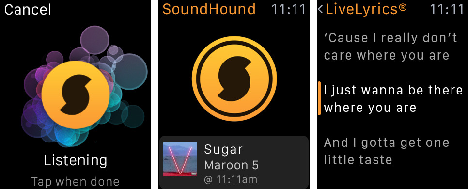 SoundHound for Apple Watch screenshot 001