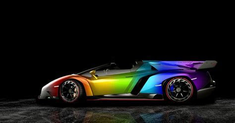 Lamborghini Veneno Roadster Rainbow   Mega Wallpapers