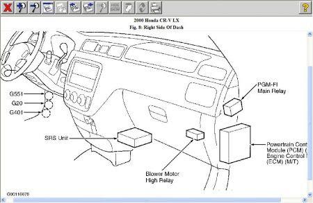 2015 Honda Crv Fuel Pump Relay Location