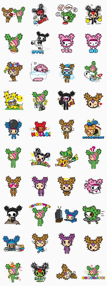 tokidoki  stickers  android iphone