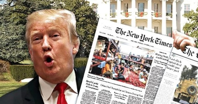 Trump Shines Spotlight On New York Times – Catches Them Changing Corona Headline 3 Times To Help Democrats
