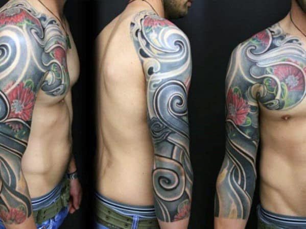 Water Half Sleeve Tattoos For Men