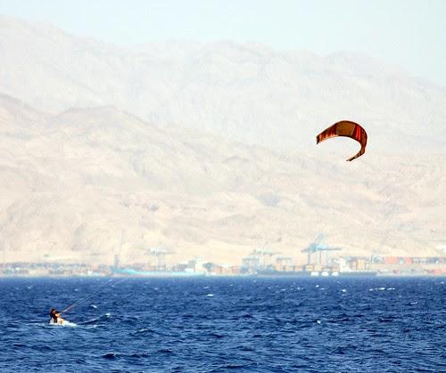 kytesurfer on the red sea