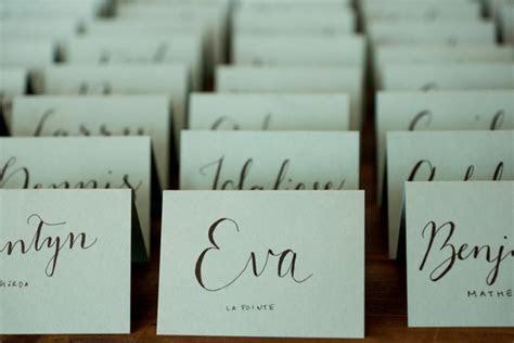 10 Handwritten Calligraphy Wedding Place Cards, Escort