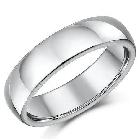 Titanium Wedding Ring Band Highly Polished Court Shaped