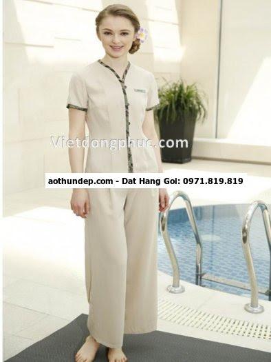 mẫu áo đồng phục spa