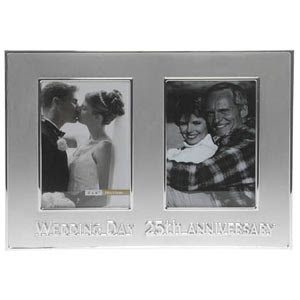 Holographic Foil Silver Wedding Anniversary Banner Goodgifts4ucouk