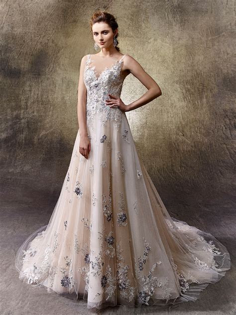 5 non white wedding dresses from Enzoani   Love Our Wedding