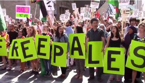 """Le rassemblement """"Tous Dehors Pour Gaza"""" à Toronto, le 10 août 2014"""