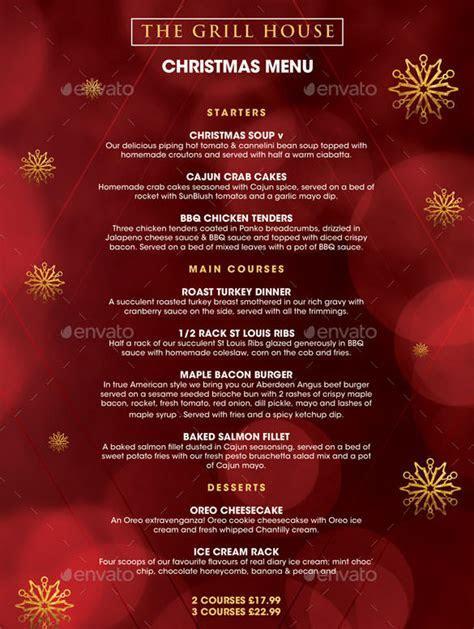 Christmas Menu Template ? 30  Free PSD, EPS, AI