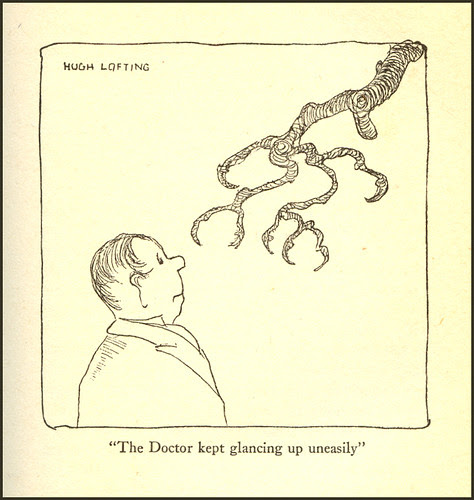 The Doctor kept glancing up uneasily