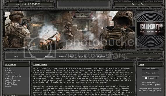 Call Of Duty Games Black php-fusion Theme