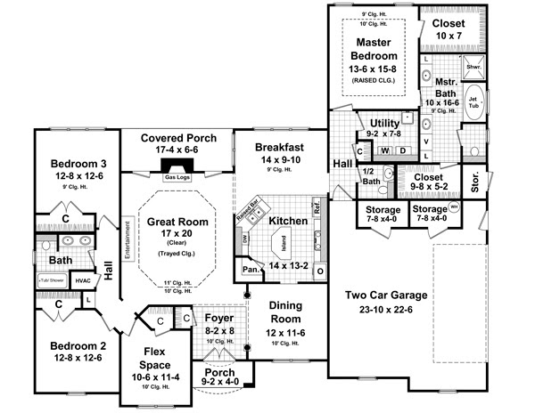 New House Plan HDC-2350-1 is an Easy-to-Build, Affordable 3 Bed ...