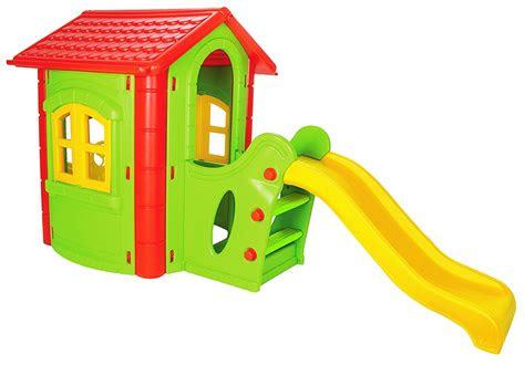 spielhaus kinderspielhaus mit rutsche xxl rot gruen fuer