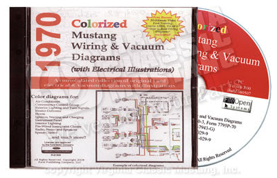 Virginia Classic Mustang Blog 1970 Mustang Colorized Wiring Diagram On Cd