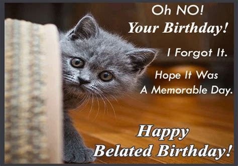 Oh No! Happy Bealed Birthday! Free Belated Birthday Wishes