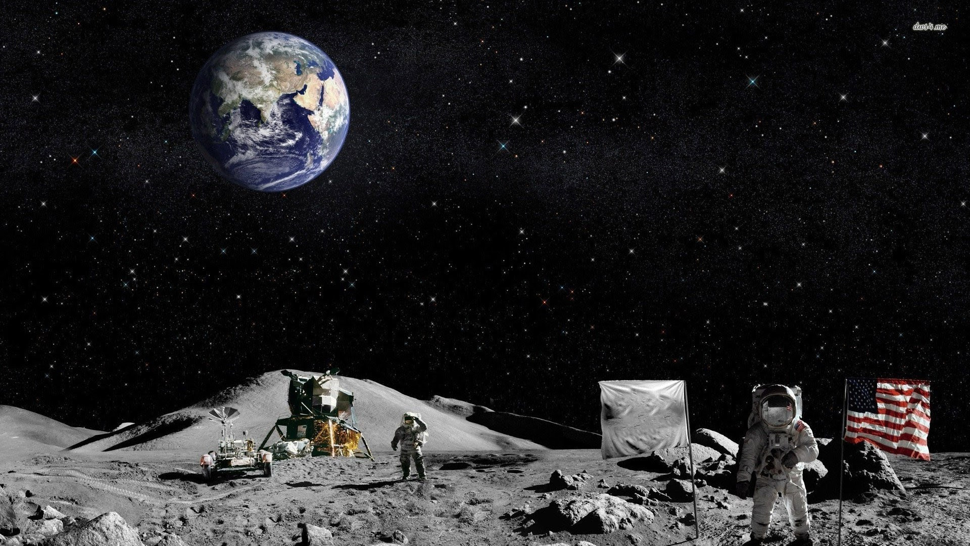 Astronaut On The Moon Wallpaper 65 Images