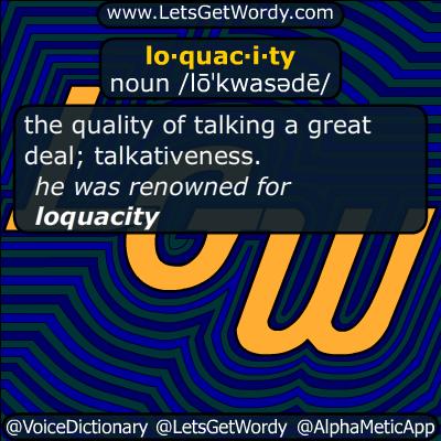 loquacity 10/25/2015 GFX Definition