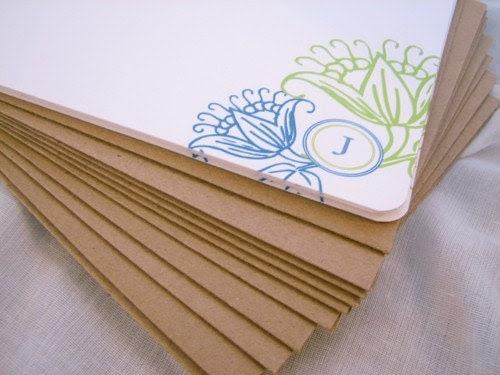 Set of 10 La Fleur Personalized cards