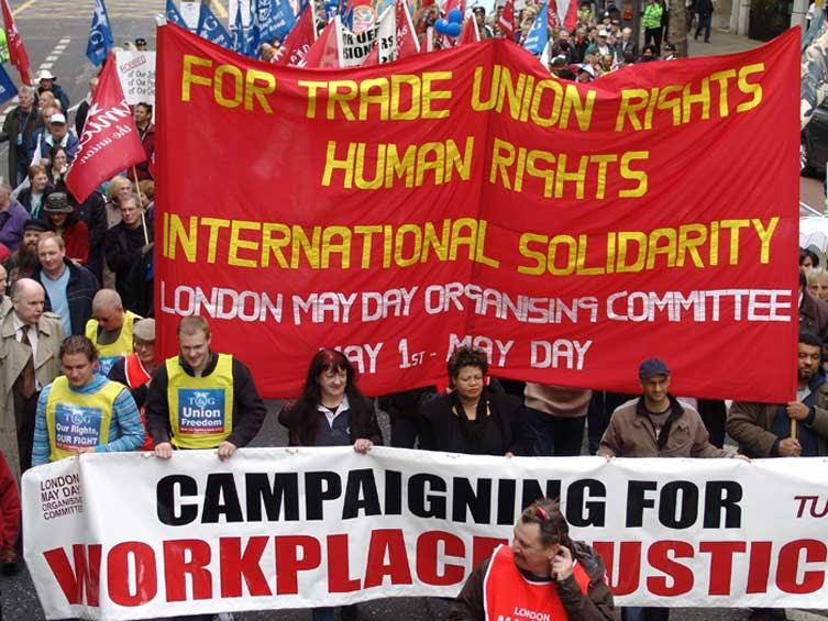 Demonstrasi Buruh pada Hari Buruh