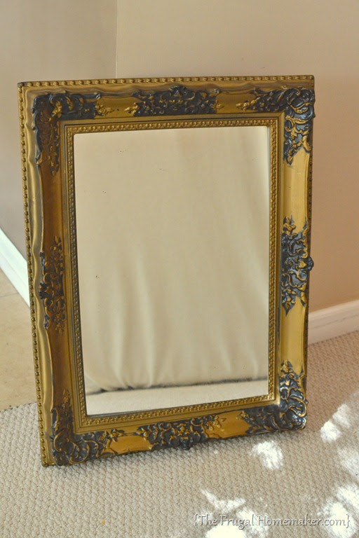 Spray Painted Gold Yard Sale Mirror